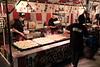 making okonomiyaki in Shinagawa