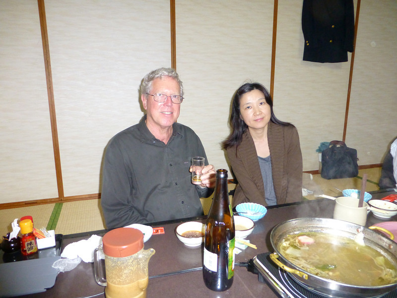 P1000758 Fred and Hayashi-san at the Shabu-shabu party