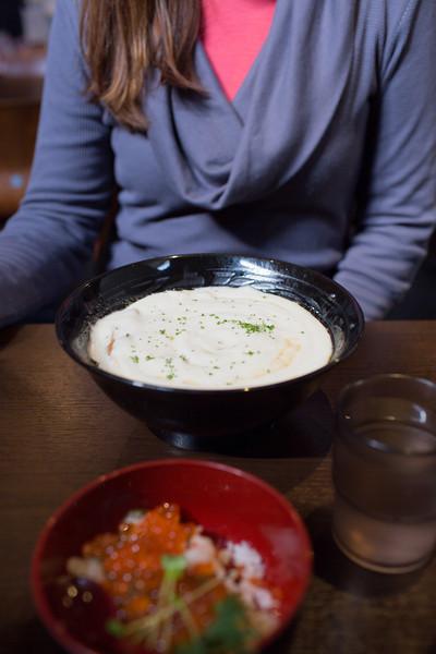 Potato foam ramen