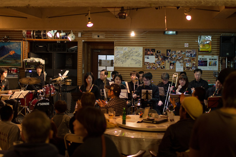 Sapporo Jazz Orchestra at Half Note, they come to Hirafu for one night a season