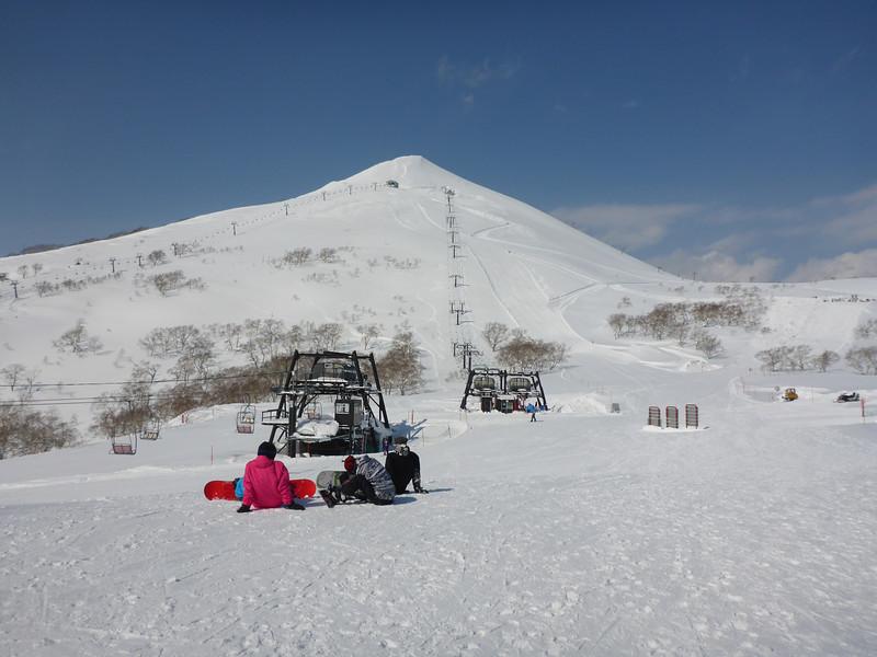 The top runs of Niseko Village