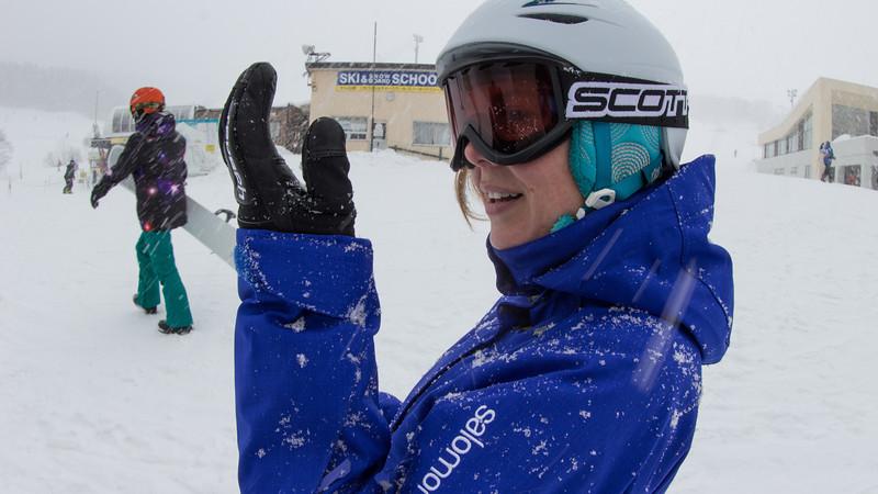 Biggest most perfect snowflakes Sarah had seen