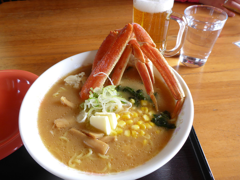 The Lookout Cafe, snowcrab ramen for lunch.