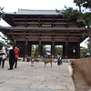 "This pic of Todaiji's Main Gate intentionally includes a deer butt. Carly had already observed by now, ""This place is infested with deer and schoolchildren."""