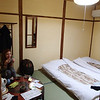 "Our room at our ryokan (inn) in Kyoto. It was a nice place, quiet, and the host was really nice, went out of his way for us a few times. Here Carly is discovering that apparently there is no such thing as ""too much"" tea."