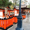 Heading up to the main shrine gate, called a torii.