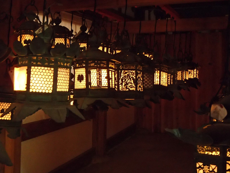 A room off to one side with more lanterns.