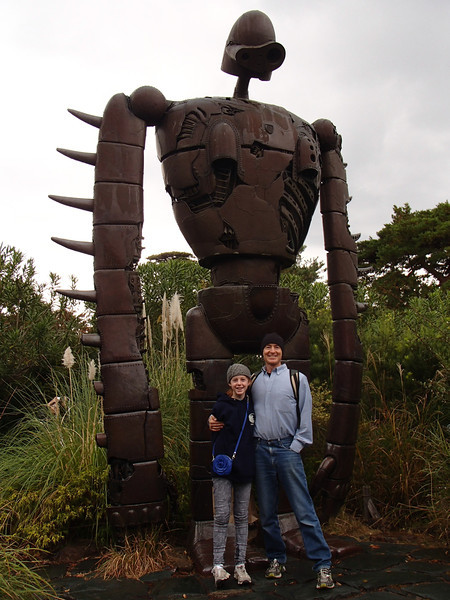 """From """"Castle in the Sky."""" This giant robot warrior sentinel is perfectly happy to be rusting away--Miyazaki's vision for a future without weapons."""