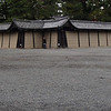 New camera takes panoramas! It does this by stitching three pictures together. Carly took this one, of one of the exterior walls of the Imperial Palace in Kyoto.