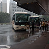 Departing our Hotel New Otani at 9 A.M. in heavy rain on October 9, 2016.
