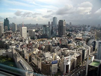 View from our room, looking towards Roppongi Hills.