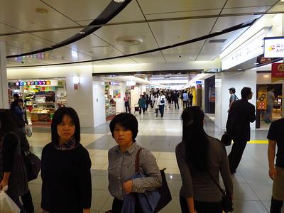 Wandering the mall-like corridors of Tokyo station