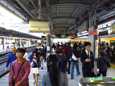 A typical day at Shinjuku station