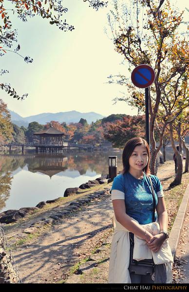 LB at the Ukimido Pavilion @ Sagi-Ike lake