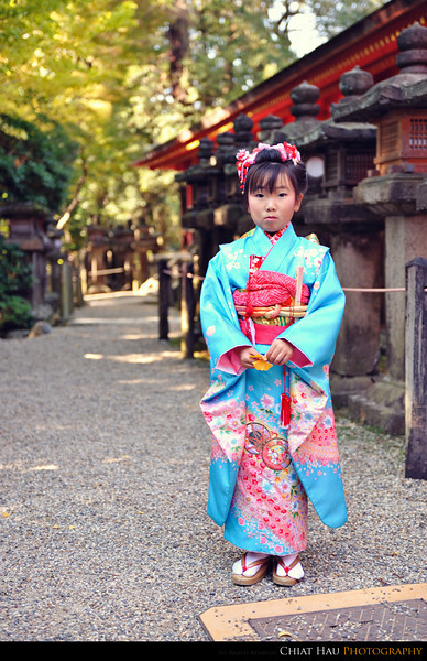 Another shoot for the little girl in Kimono
