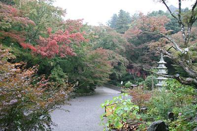 A little fall rain and another Shinto Temple, Kunisake peninsula, Japan