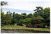 Aizu Wakamatsu (会津若松) - Oyaku-en Garden (御薬園) - Rakujutei (楽寿亭) in the middle of Shinji no Ike Pond (心字の池)
