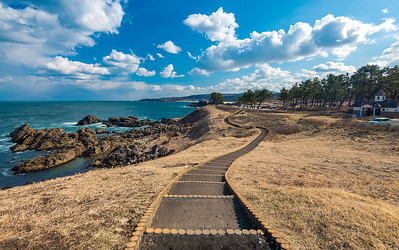 A Curving Path On The Tanesashi Coast