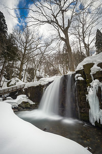 Choshi Otaki Waterfall In Winter