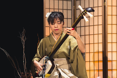 Tsugaru Shamisen Hall Female Performer Close