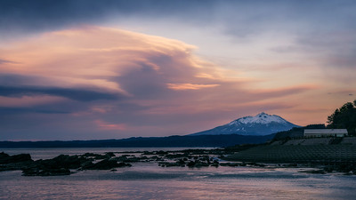 Lenticular Clouds Over Mt Iwaki