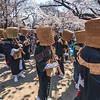 Monk Procession In Ueno Park
