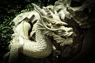 Dragon with Yellow Eyes