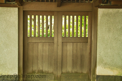 Closed Japanese Door