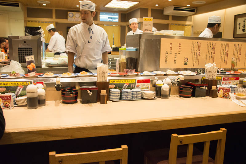 Musashi Sushi Conveyor Belt Sushi restaurant in Kyoto-0077