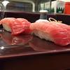 Toro (fatty tuna) sushi. Probably the best piece of fish we have ever had... (Kanazawa)