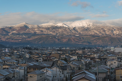 Mountains Over Fukushima City