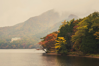 Autumn on Lake Haruna