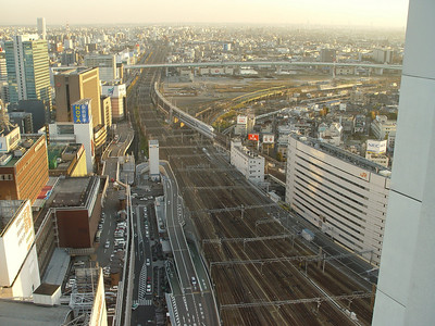 The view from my hotel room. All Shinkansen trains stop here.