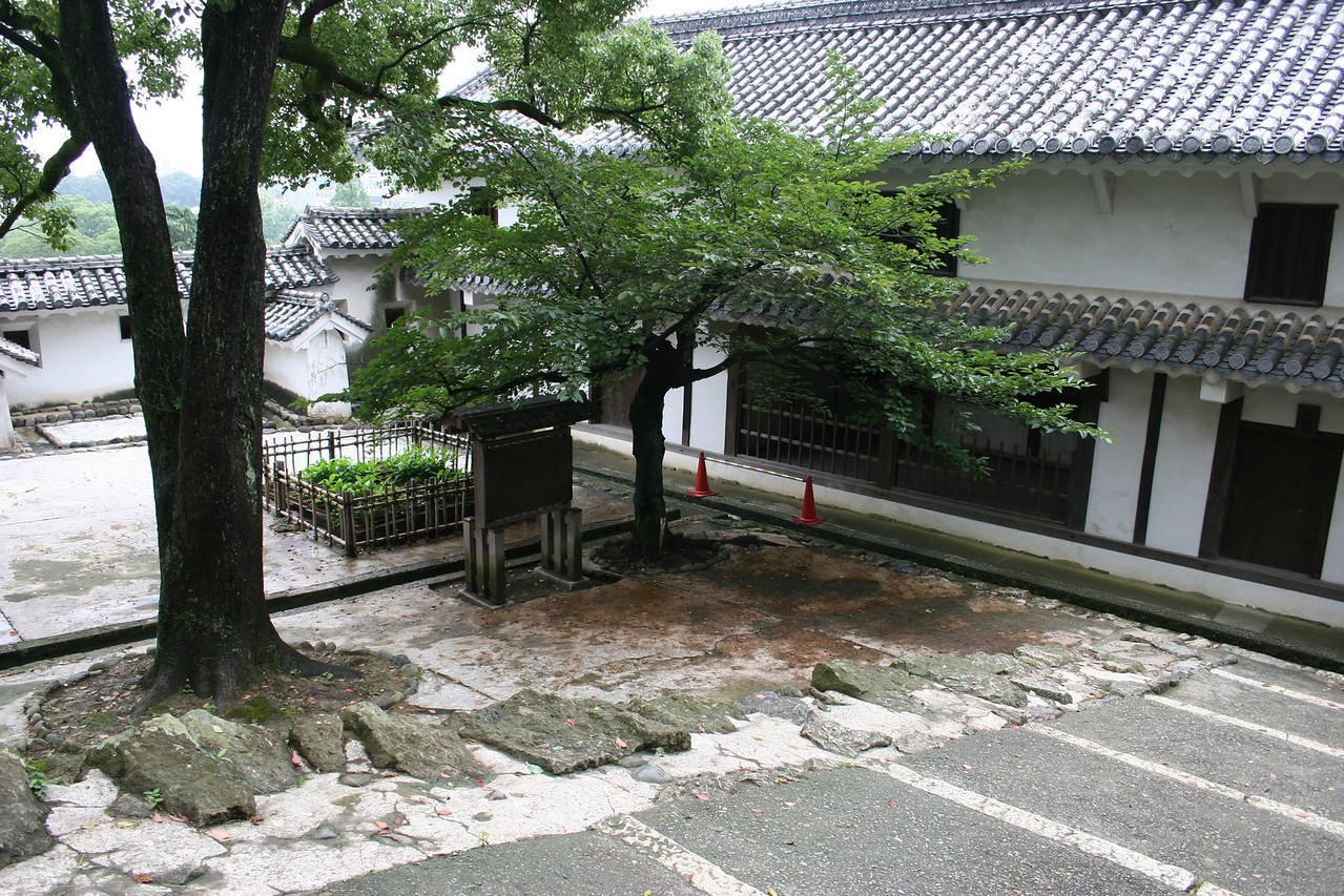 This secluded corner of the castle was the cermonial spot for the hara-kiri (seppuku) by disgraced samurai.