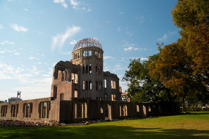 The A-Bomb Memorial Dome, almost right under the blast point, so the building was left standing.