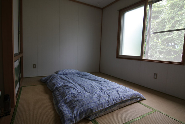 My futon (bed) room