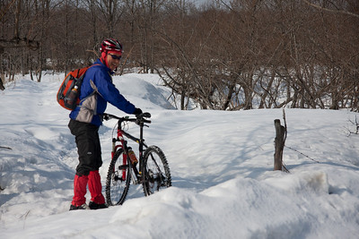 Despite our winter tires, this snow had to be some of the most mendokusai (frustrating) snow to ride through.