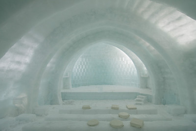 The large and quite remarkable eco-friendly ice theater