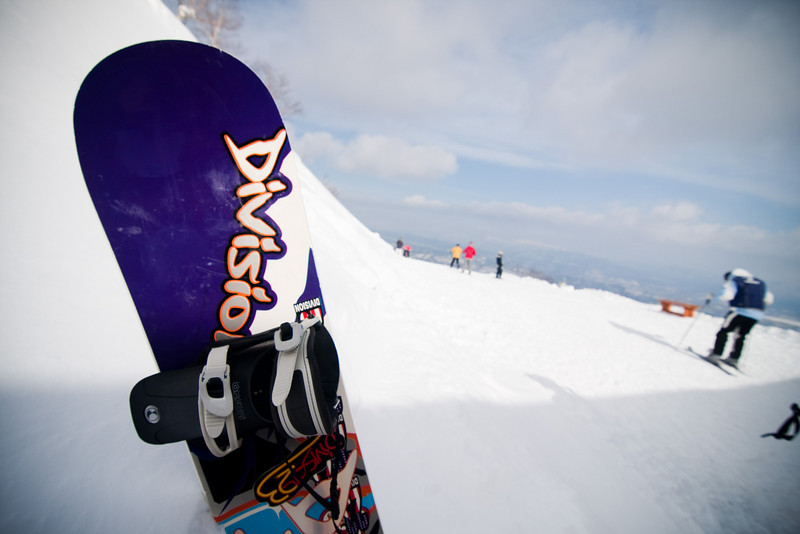 Snowboarding in Sahoro