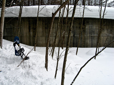Coming to a halt at an abandoned dam. (Don't know if its abandoned or not, but sounds cooler if we say it is),