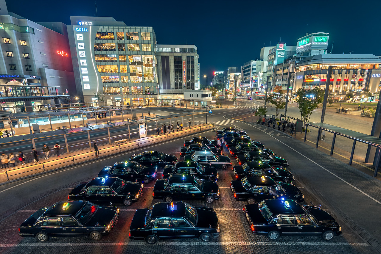 Evening At Himeji Station