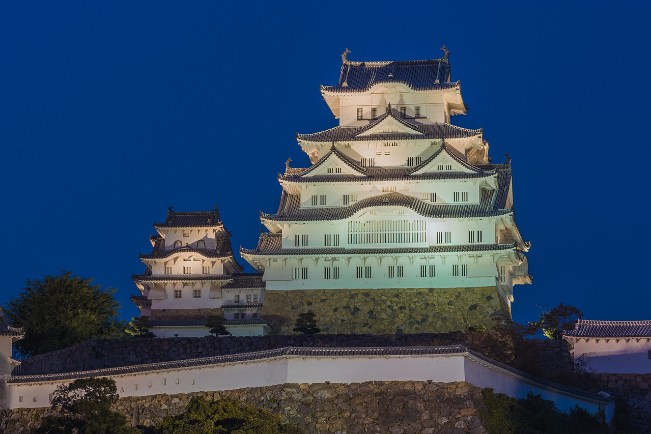 Nighttime Illumination at Himeji Castle