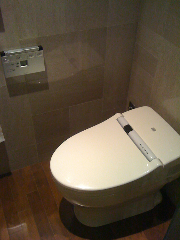 An automated toilet