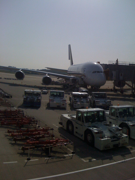 Singapore's A380 which took us to Tokyo