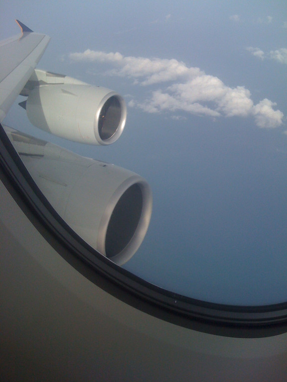 A380's twin engines and wing