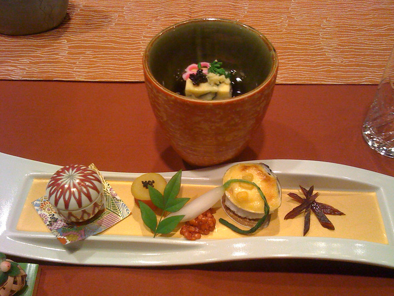 Artistry of a Japanese meal
