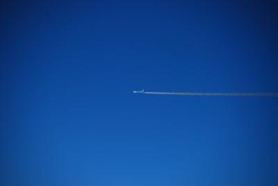Flying alongside us was this Korean Air Lines flight.