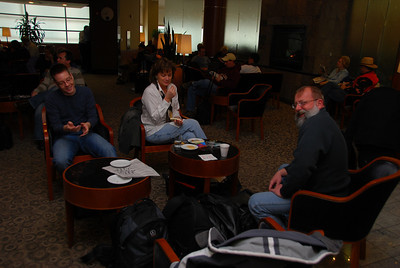 The OTT installation team waits in the World Club lounge in Detroit for the announcement that their flight to Narita, Japan is boarding. We will be staying at a Prince Hotel in Hanno, Japan, for 9 nights.