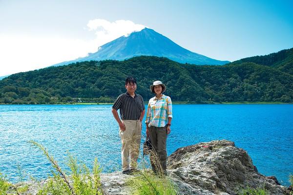 Fuji san from Kawaguchi Lake!