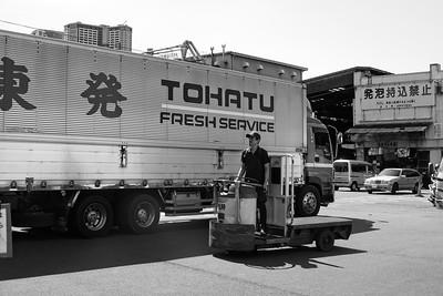 The Tsukiji Fish Market, Tokyo.